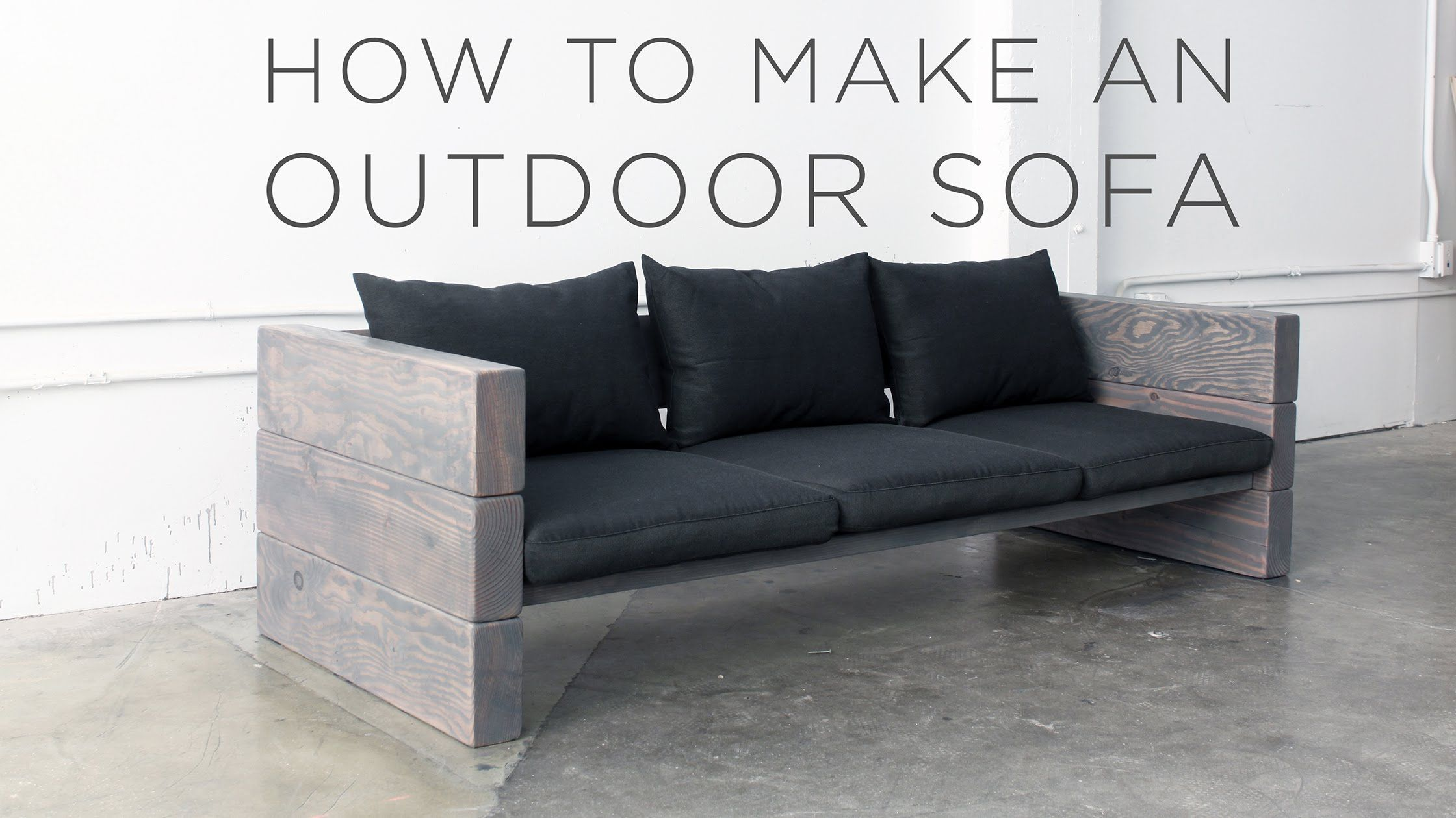 This DIY Sofa Can Be Made With Basic Power Tools In Less Than 5 Hours.  Homemade Outdoor FurnitureHomemade ...