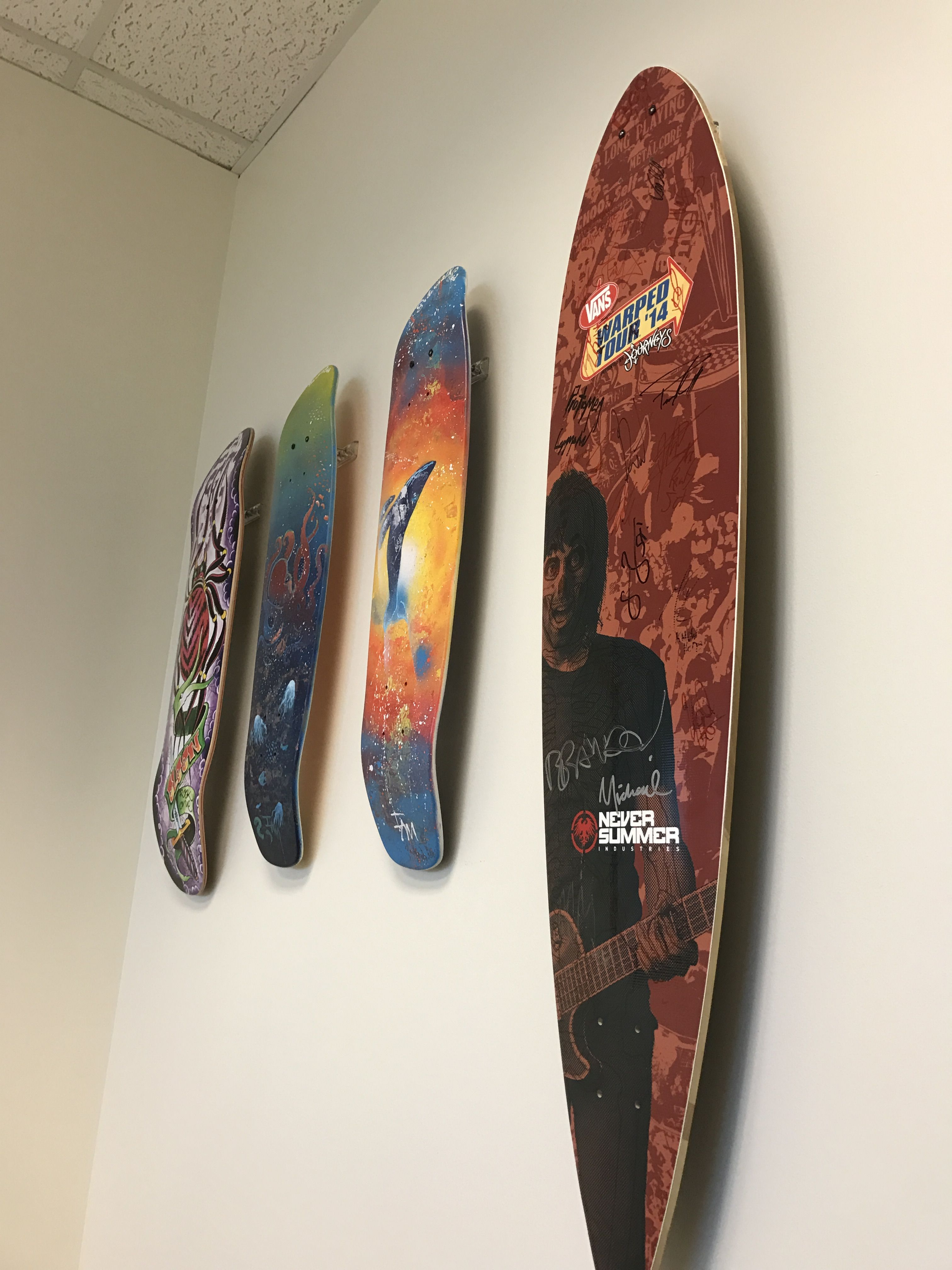 Turn Your Retired Skateboard Decks Into Art Hang Them Up With A Simple Wall Mount Skateboarddecor Skateboardrack Yourboard