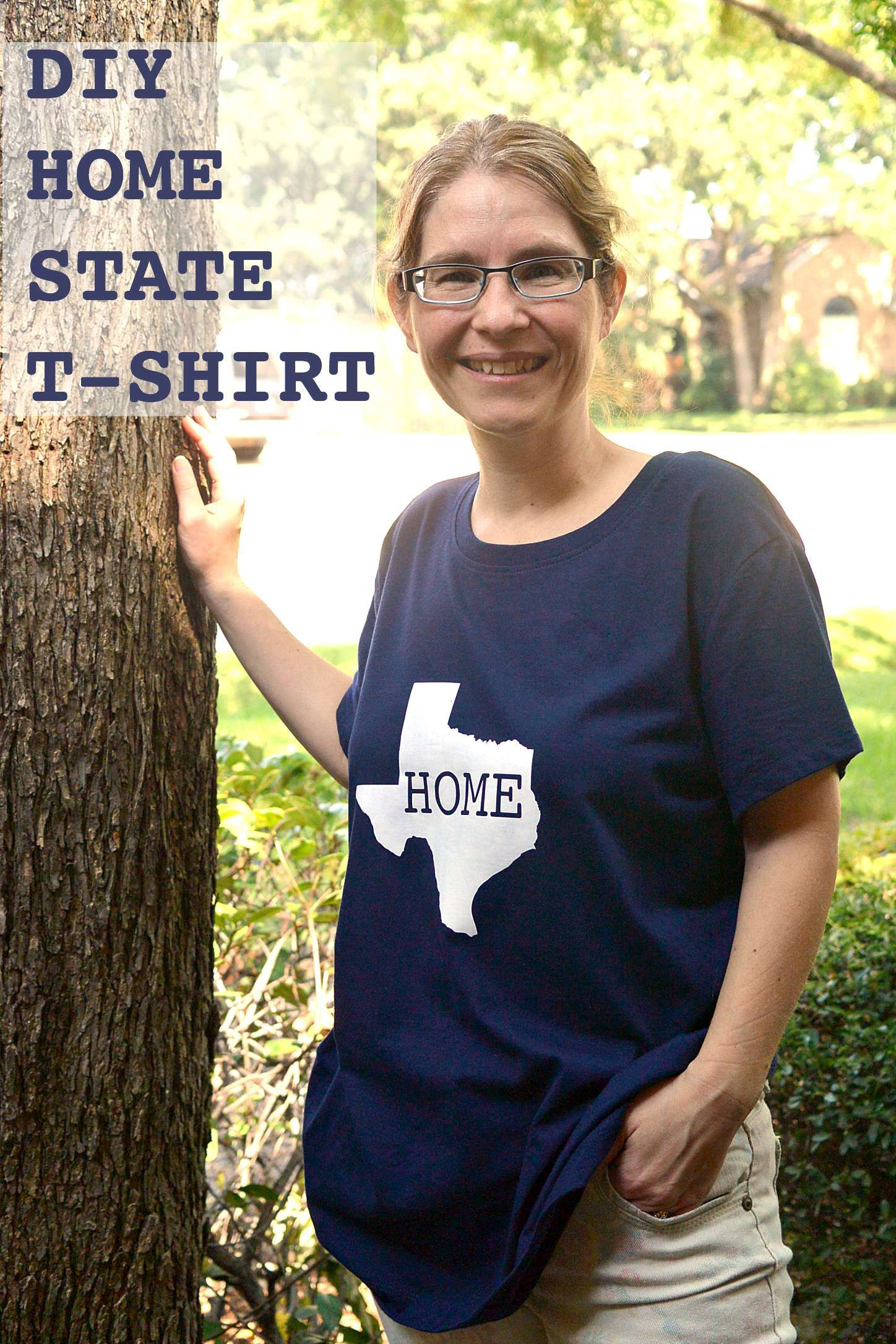 Diy home state tshirt three different directions home