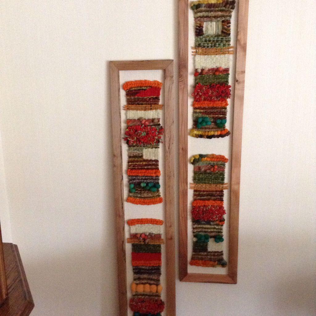 Murales a telar enmarcados | Telares | Pinterest | Telar, Murales y ...