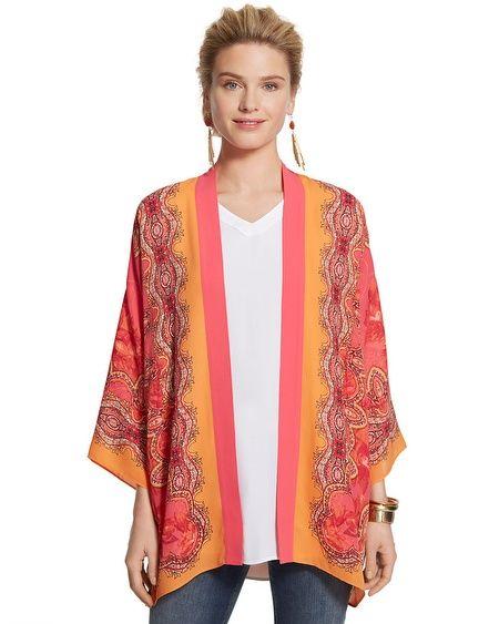 Medallion-Imprimer Drapé Kimono