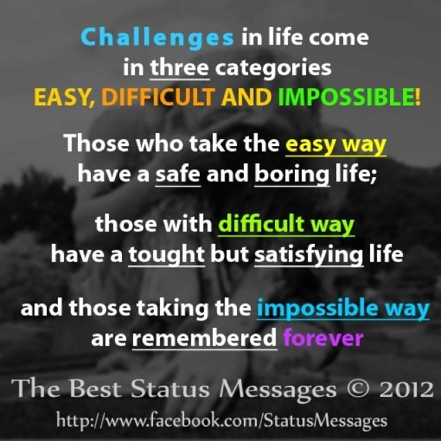 Life Challenges Quotes Images: Stuff We Need To Know