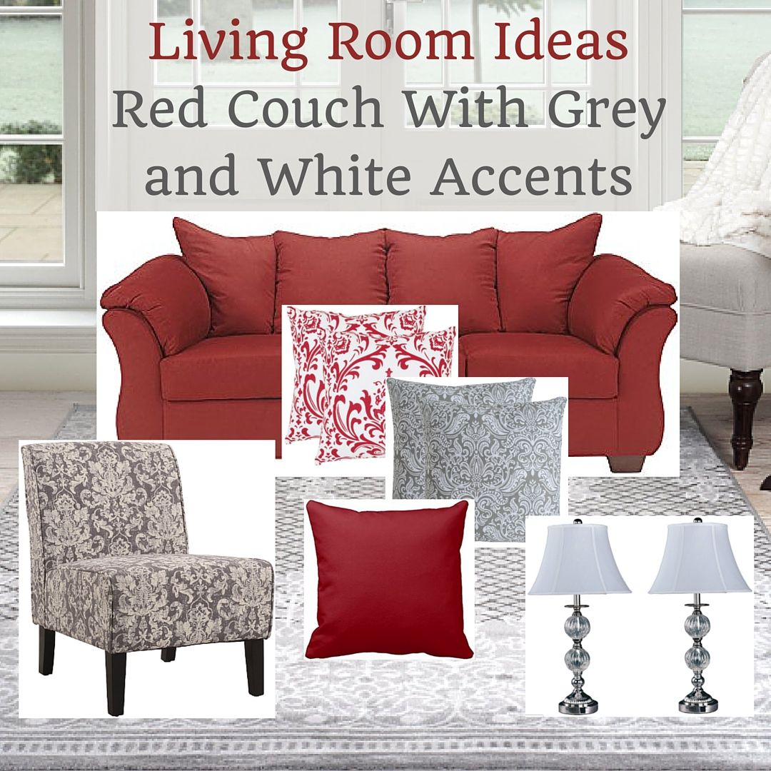 Red White And Grey Living Room Ideas: Living Room Ideas Red Couch With Grey And White Accents