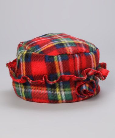 Red Plaid Fleece Hat by Mack & Co