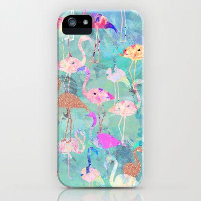 Flamingo Party  iPhone & iPod Case by Nikkistrange - $35.00