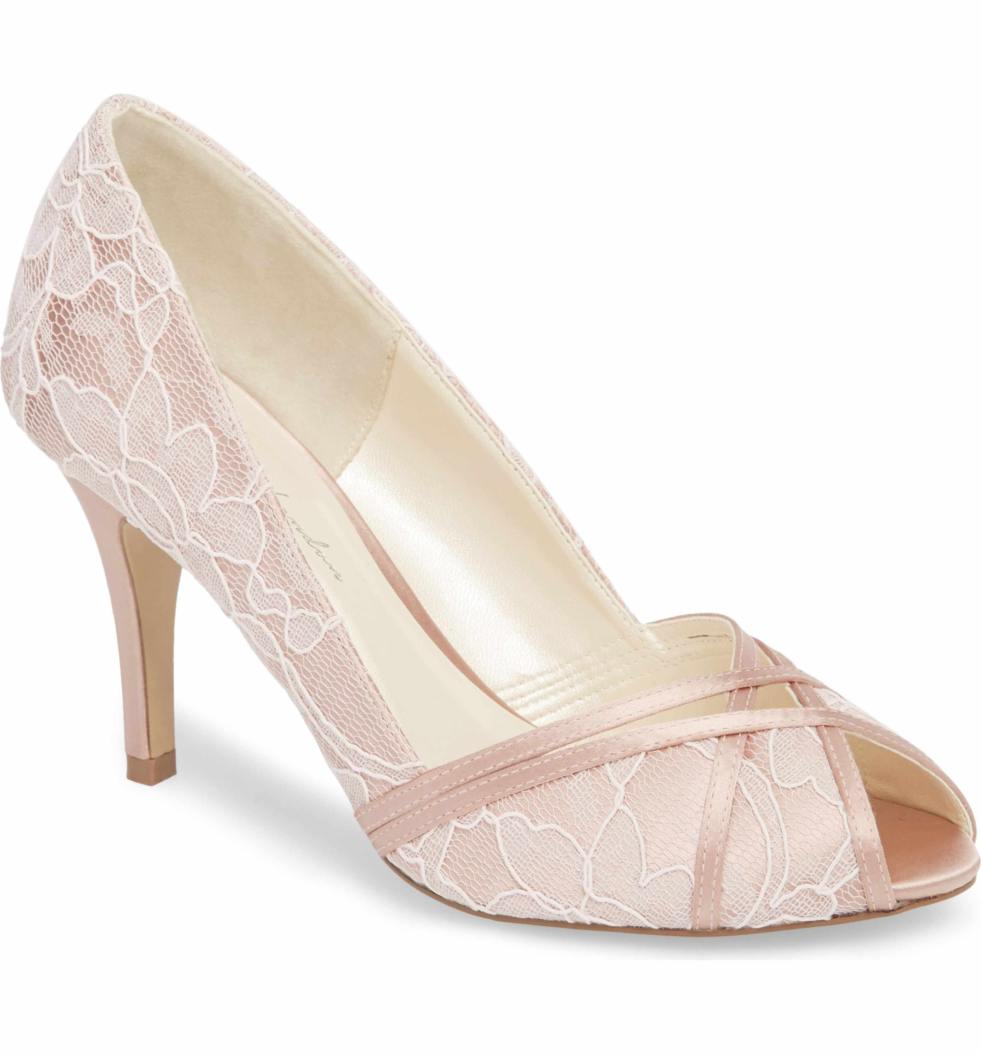 Paradox London Pink Women's Cherie Embroidered Peep Toe Pump mS7ta