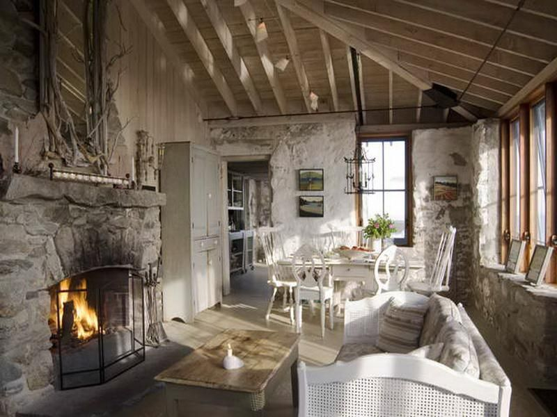 Lodge Style Fireplace Cabin Home Decor Eith