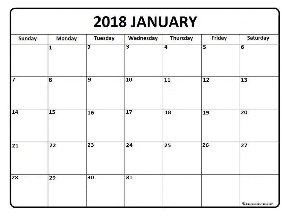 January  Calendar Template  January  Calendar