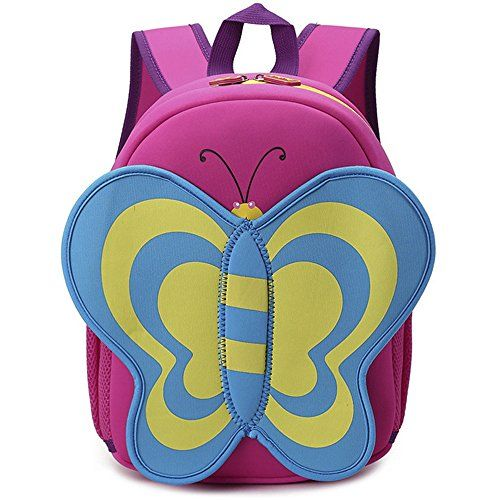 Arelang Lovely Butterfly Ornament Waterproof Schoolbag 1  3  Grades 612 Years Old Childrens Cartoon Backpack Rucksack Pink -- Check out the image by visiting the link.