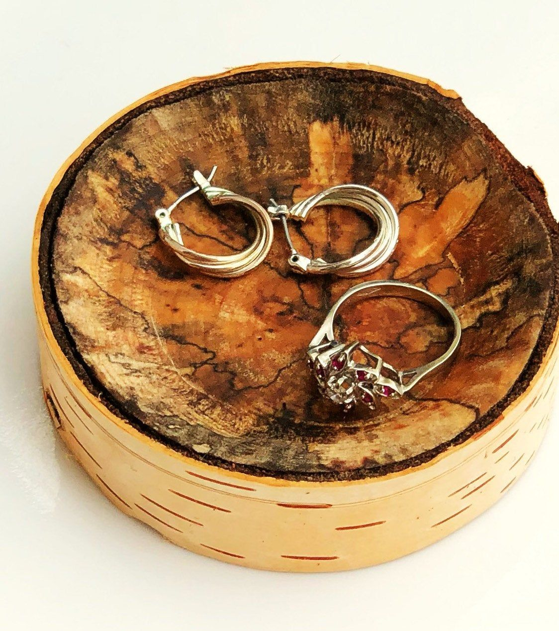 028d23ad10 Wood ring dish, ring bowl, ring holder rustic, jewelry holder, trinket dish