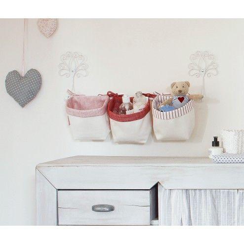 Porta oggetti neonato bambini tasche da muro neonato - Appendini da muro ikea ...