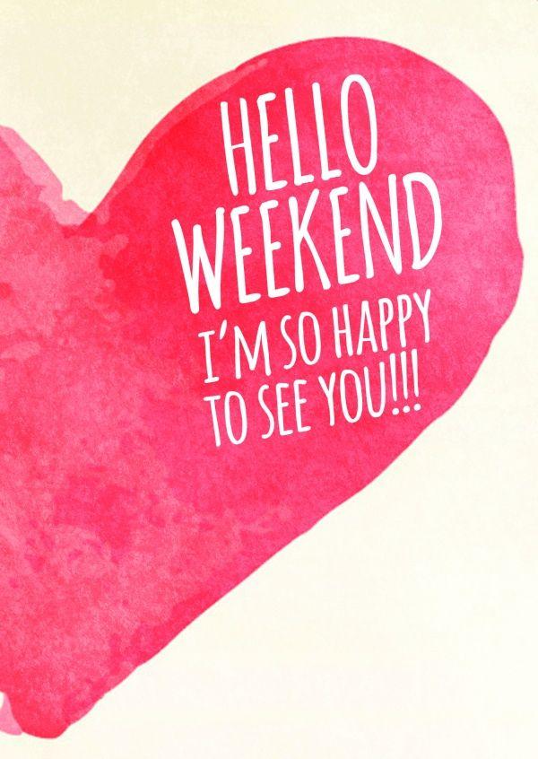 Hello Weekend | Einfach so ��� | Echte Postkarten online versenden