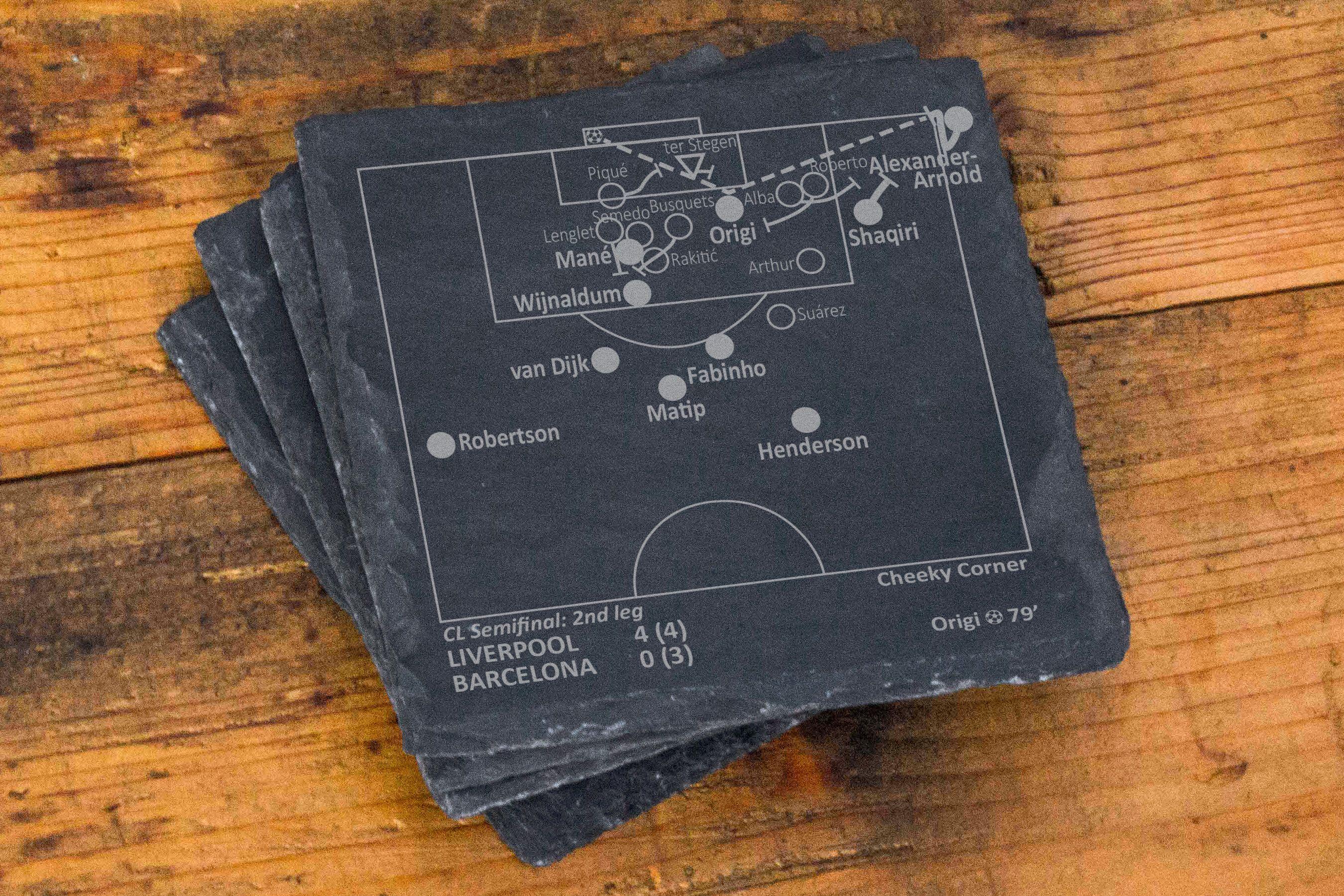 Greatest AC Milan Plays Slate Coasters Set of 4