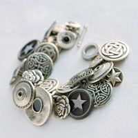 how to make button bracelet - what a great idea - the options are endless! This is definitely on my to-do list.