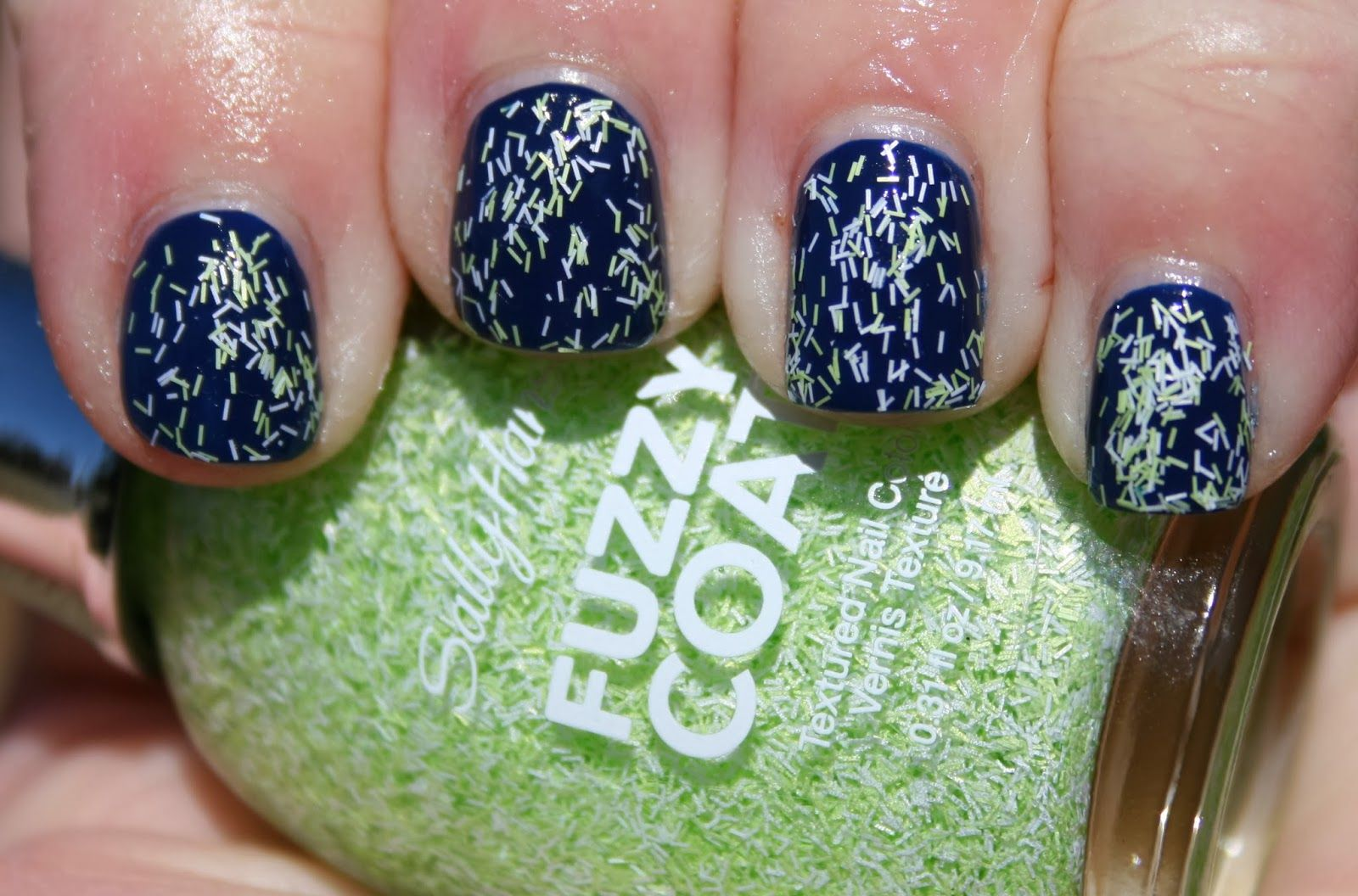 Sally Hansen Fuzzy Coat in Fuzzy Fantasy over SinfulColors Cold Leather