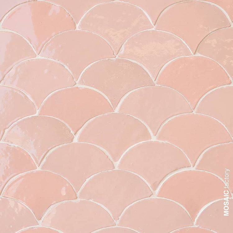 Love At First Sight Mosaicdelsur Terrazzo Tiles Collection Marble 5 Colour 504 Mosaicdelsurterrazzo Terr Tile Bathroom Pink Tiles Fish Scale Tile