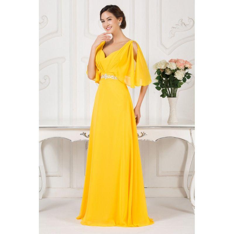 Žlté večerné šaty Maura  448b6baa655