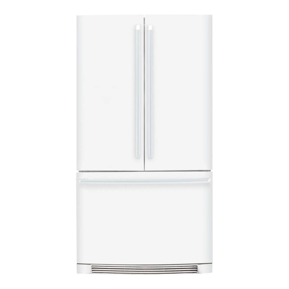 Electrolux iq touch 2237 cu ft french door refrigerator in electrolux 36 in french door refrigerator in white counter depth the spillsafe sliding glass shelves slide out for easy access and are designed to rubansaba