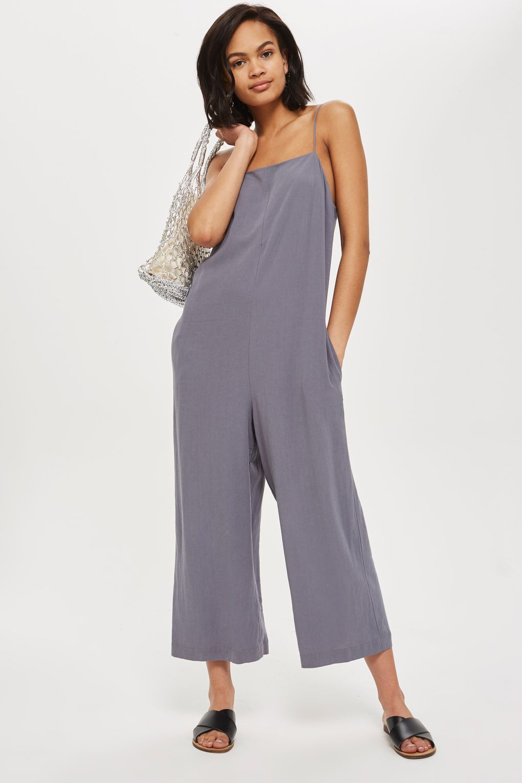 2cbd10a7b5e8 Square Neck Slouch Jumpsuit - Clothing- Topshop Europe