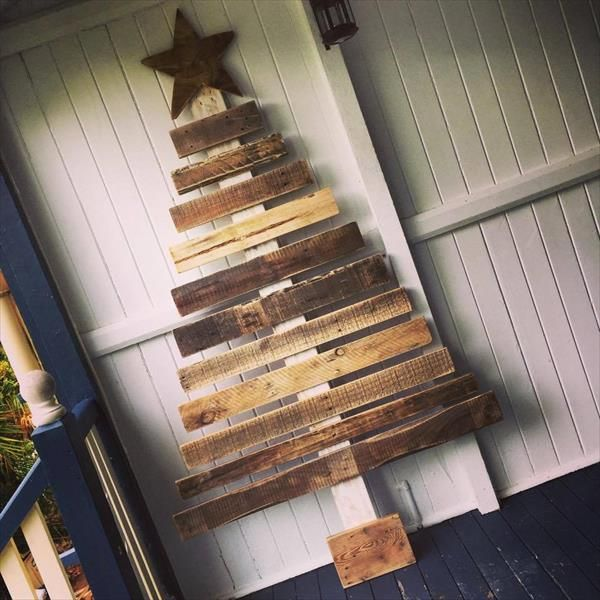 Pallet Festival #Tree Decor - 10 DIY Pallet Trees - 100% Pallets Wood | Pallet Furniture