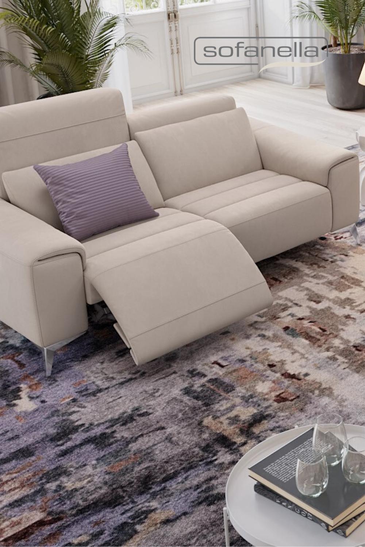 Funktionssofa Leder Beige Entdecken Sie Formschone Alleskonner Fur Ihr Wohnzimmer In 2020 2 Sitzer Sofa Sofa Design Ledersofa