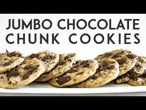 Jumbo Chocolate Chunk Cookies Recipe Chocolate Chunk Cookies Vegan Sweets Dessert Recipes