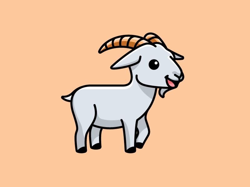 Goat Pet Logo Design Animal Outline Goats