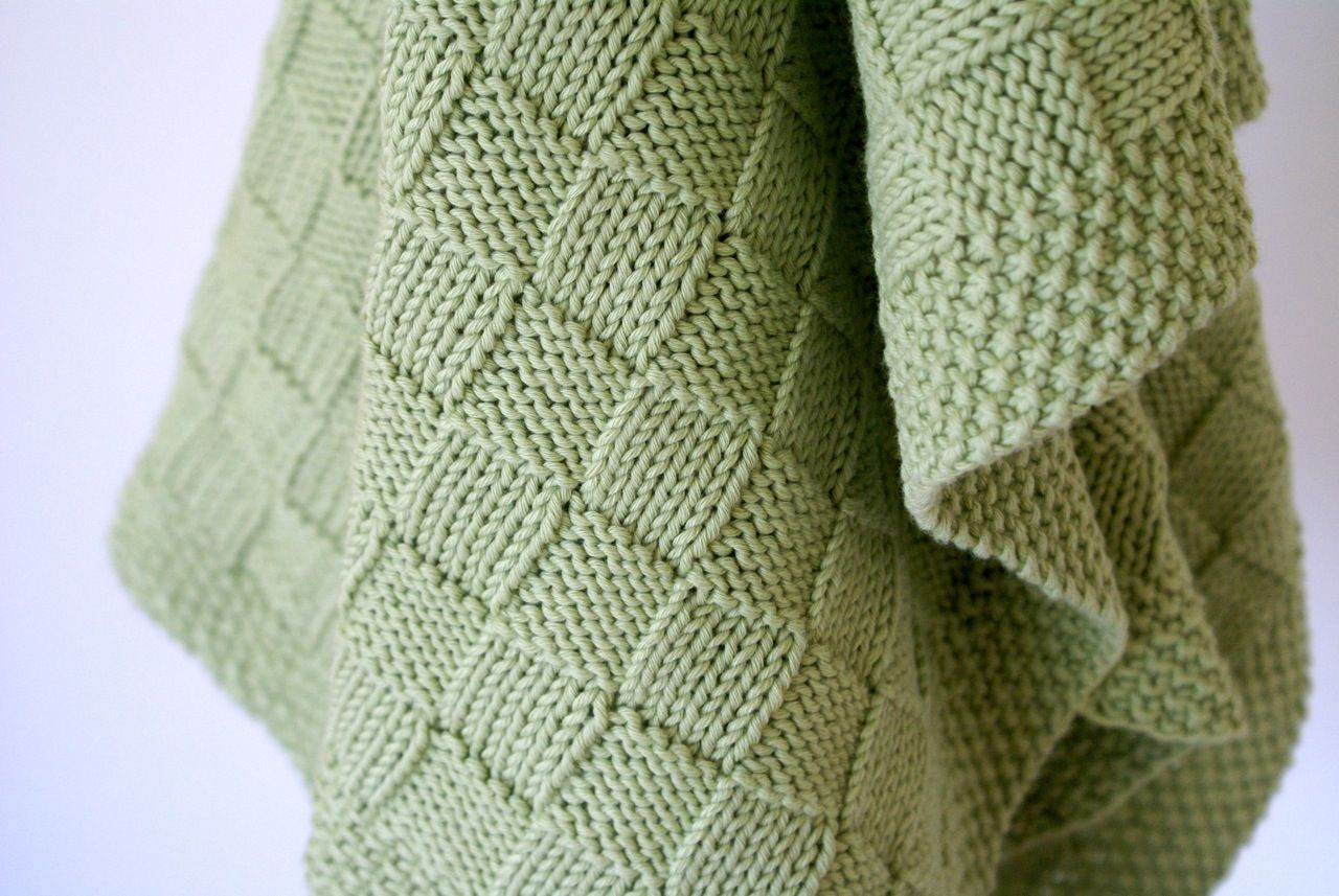 Simple Basketweave Baby Blanket — Crafthubs | My Knitting Loves ...