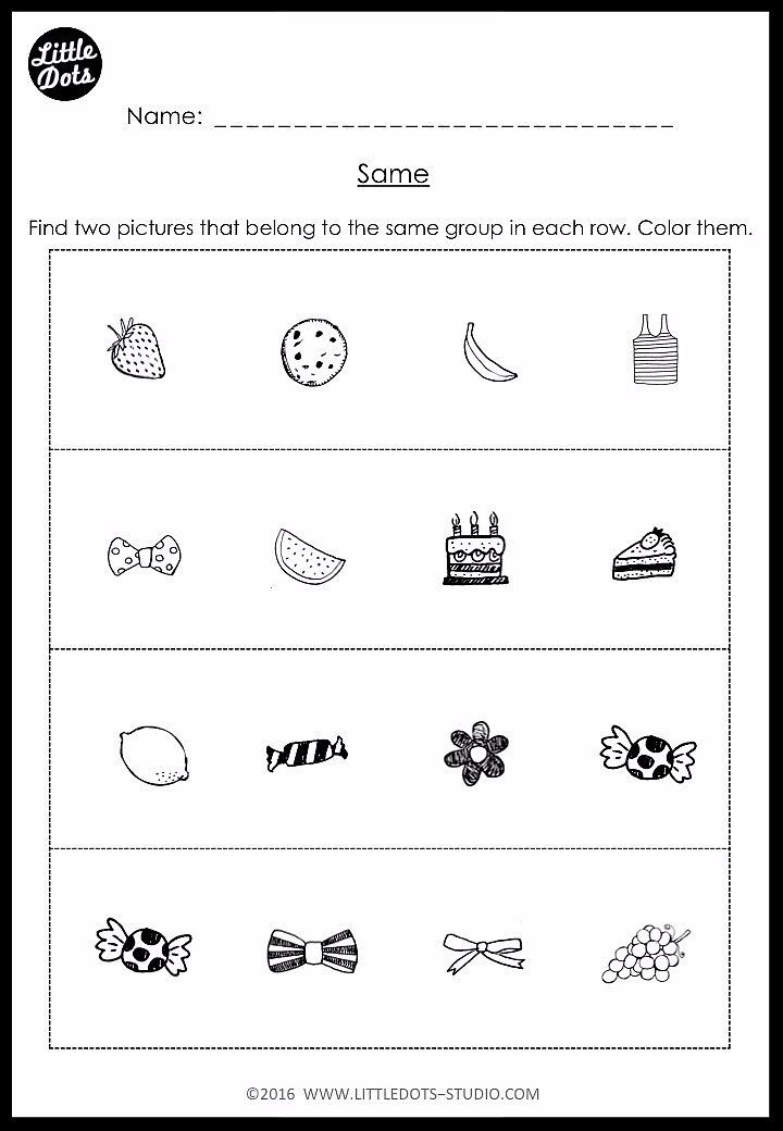 Kindergarten Same And Different Worksheets And Activities Kindergarten Math Kindergarten Worksheets Printable Kindergarten Phonics Worksheets