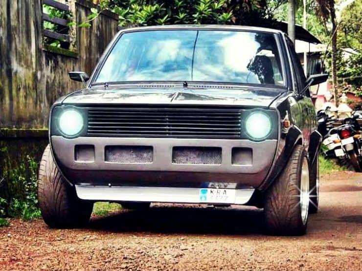Maruti 800 Ss80 Modified To Look Like Vw Golf Gti Mk1 Maruti 800