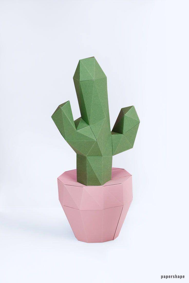 Kaktus Geschenke fürs büro, Papier handwerk und Basteln