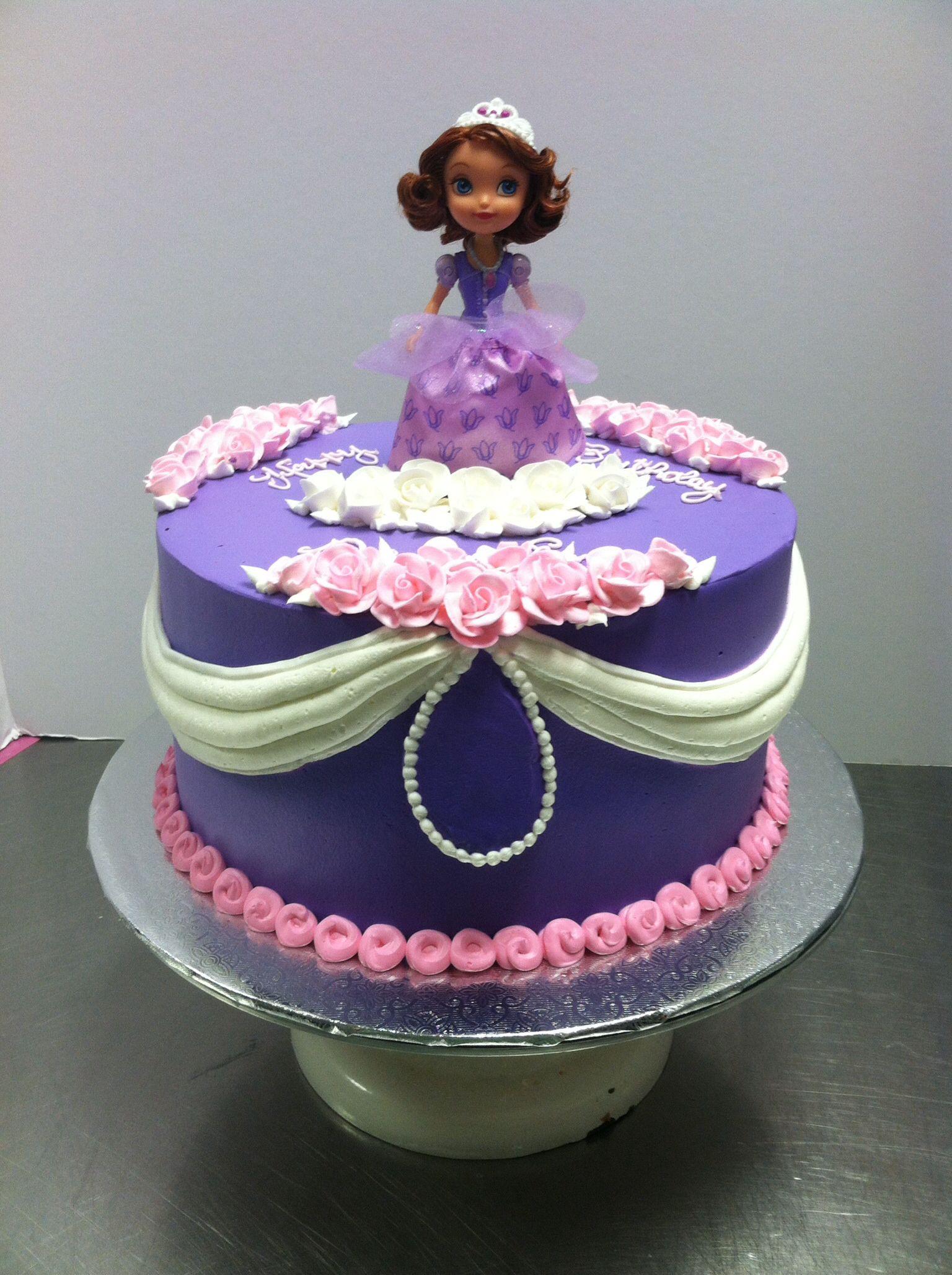 Princess Sofia Cake With Images Princess Sofia Cake Sofia