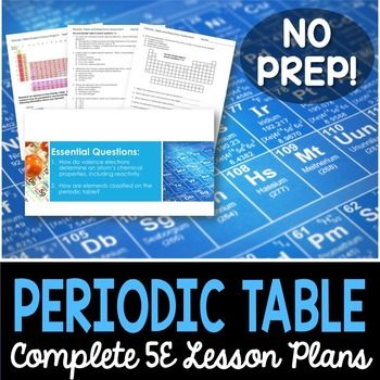 Periodic table and reactivity complete 5e lesson plan periodic periodic table and reactivity complete 5e lesson plan urtaz Choice Image