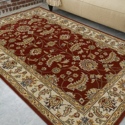 Charlton Home Audrey Red Area Rug