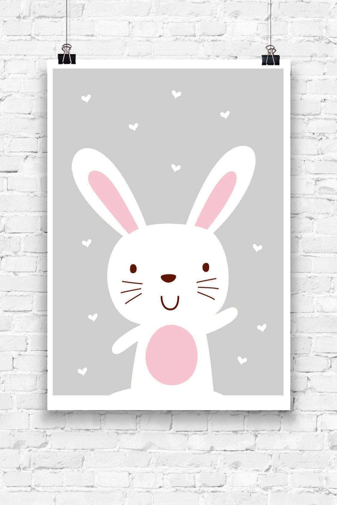 Snow Bunny Children S Poster Animal