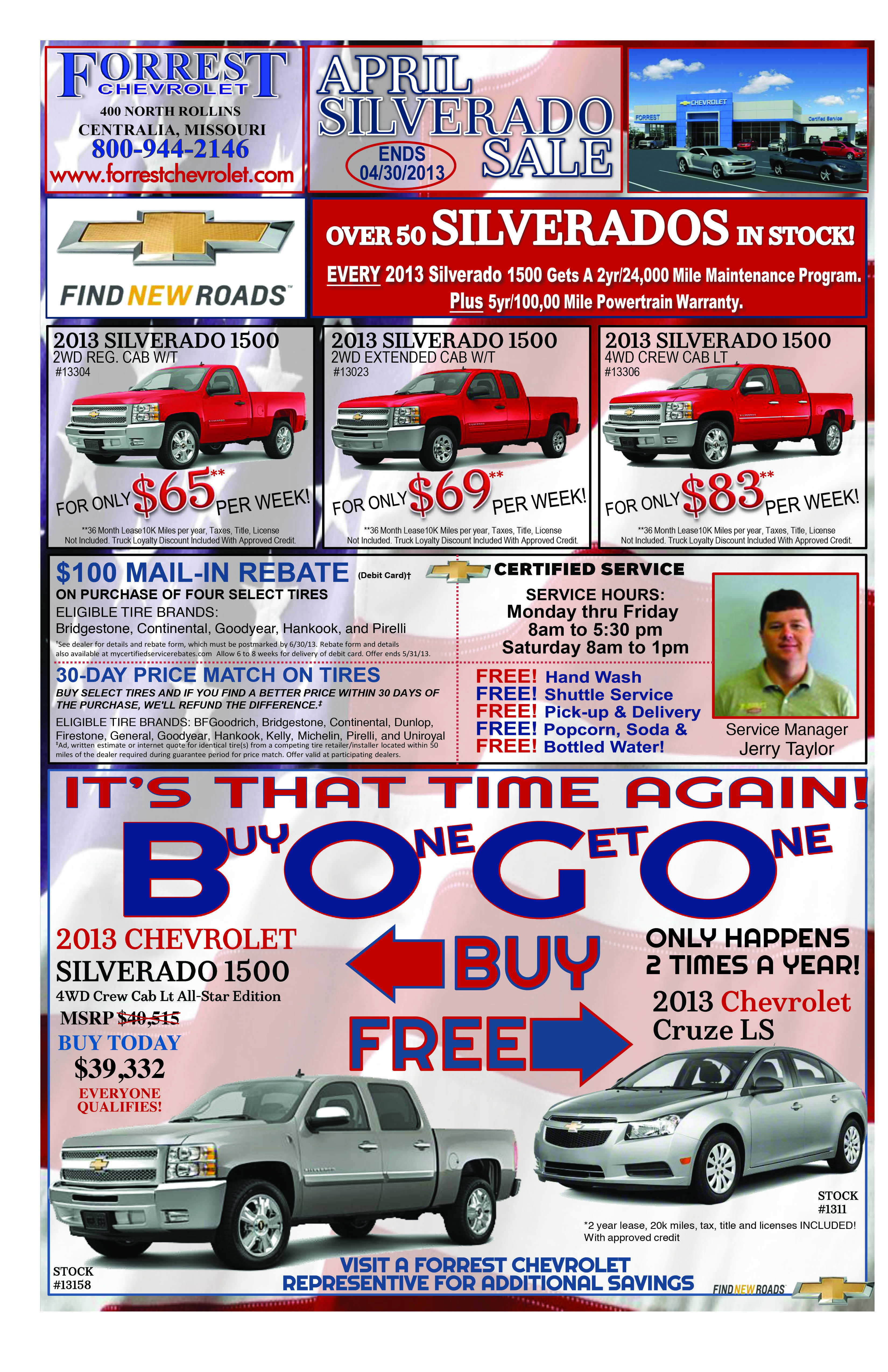 Bogo Car Deals >> Bogo Sale We Are Having To Give Away Chevy Cruzes