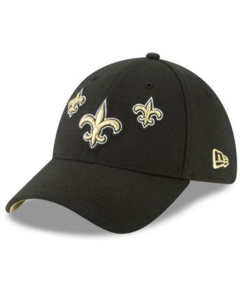 sports shoes f4f9a a2b96 New Era New Orleans Saints Draft 39THIRTY Stretch Fitted Cap - Black M L