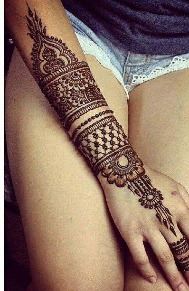 Tattoo Au Henne Noir De L Avant Bras Tatoo 헤나 잉크 Et 파티