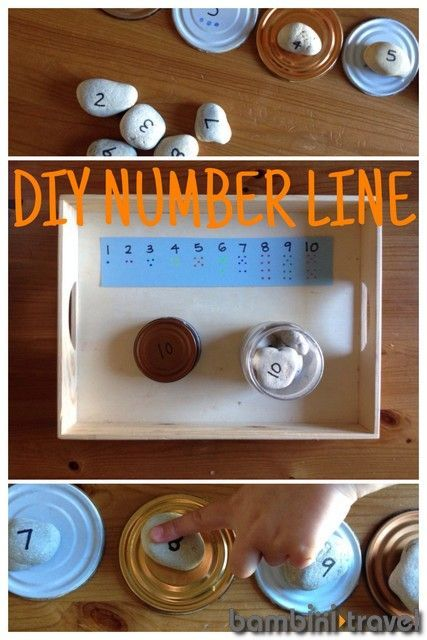 How to Make a Loose Parts Number Line | An excellent way to include natural materials and hands on learning into preschool math curriculum | Bambini Travel