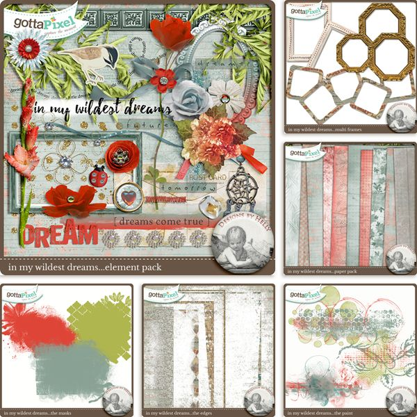 In My Wildest Dreams...the Collection :: Kits :: Gotta Pixel Digital Scrapbook Store by Designs by Helly