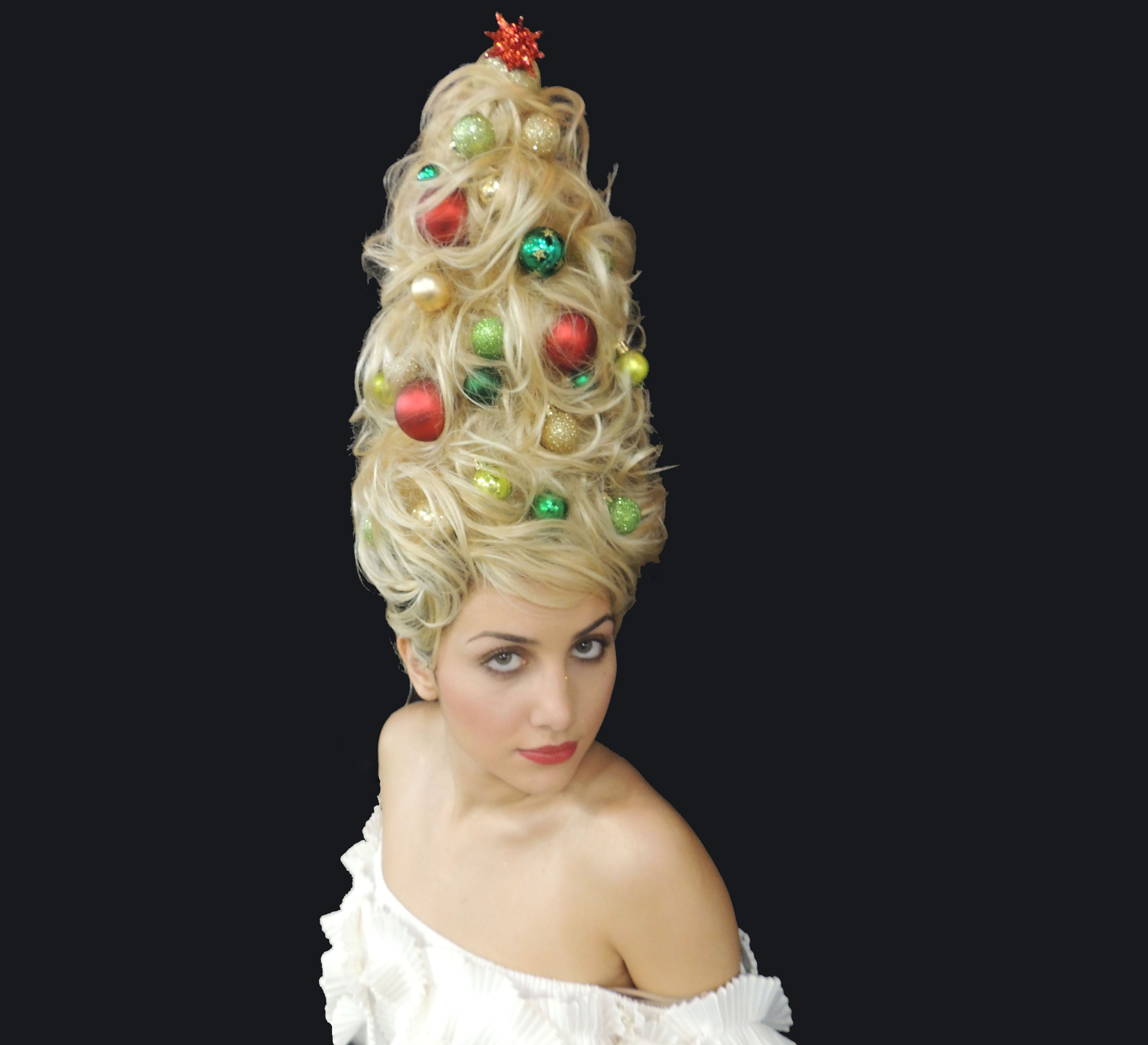 Holiday How To Create A Christmas Tree Updo Christmas Tree Hair Holiday Hairstyles Hair Styles