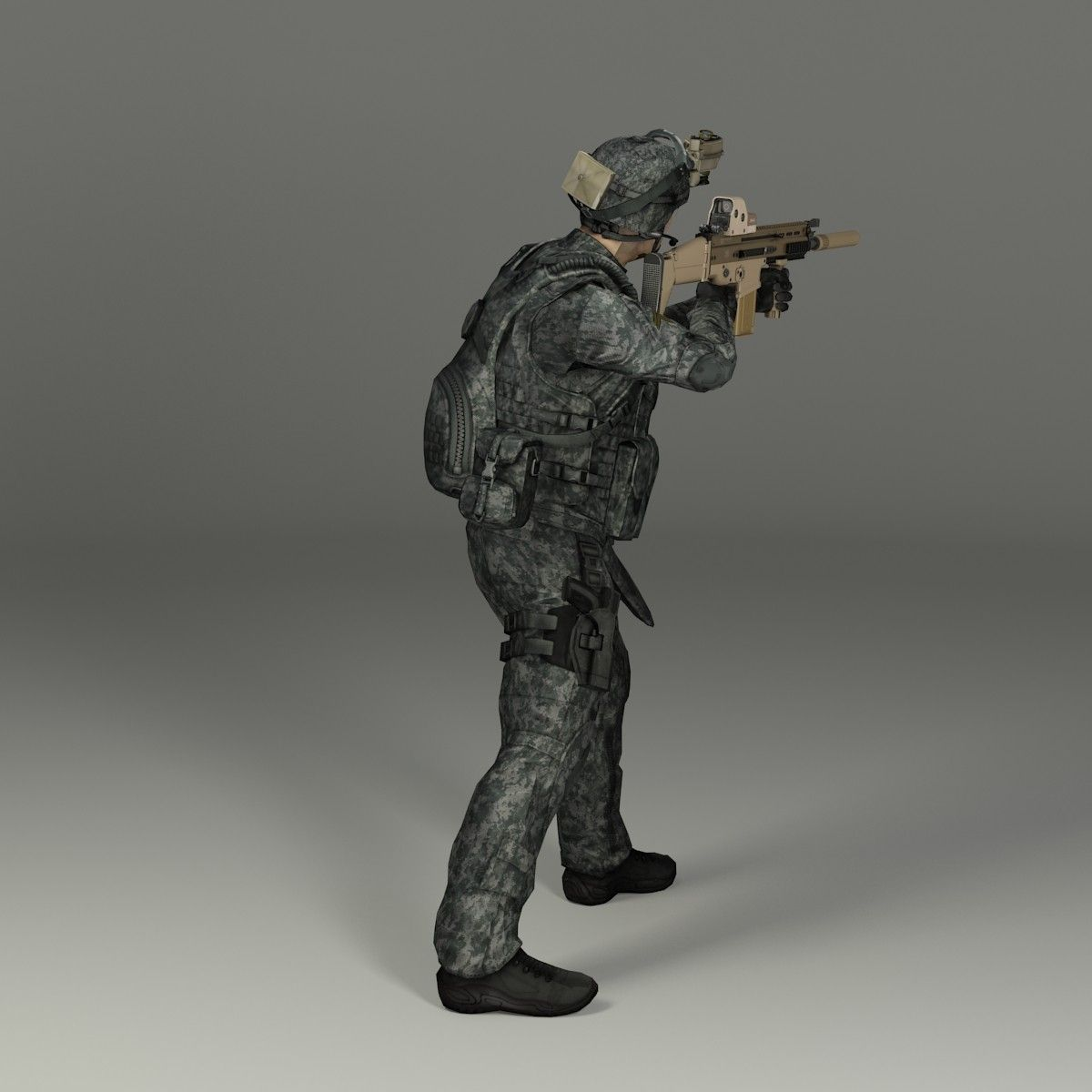military male soldier max