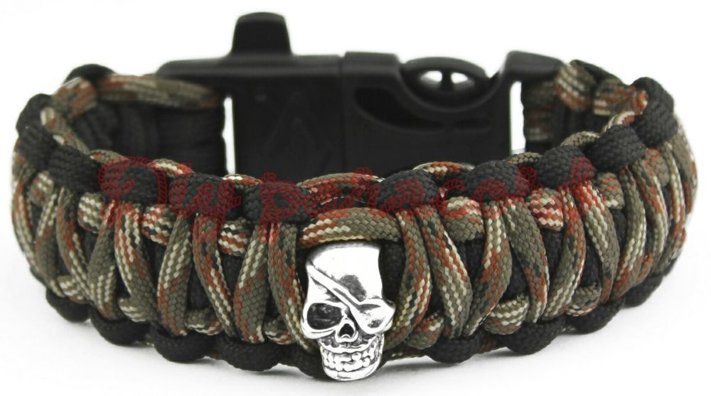 550 Paracord Survival Bracelet King Cobra Black//Dark Brown Camping Tactical