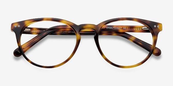 76ad805ed9db Tortoise Round Prescription Eyeglasses-Medium Full-Rim Acetate ...