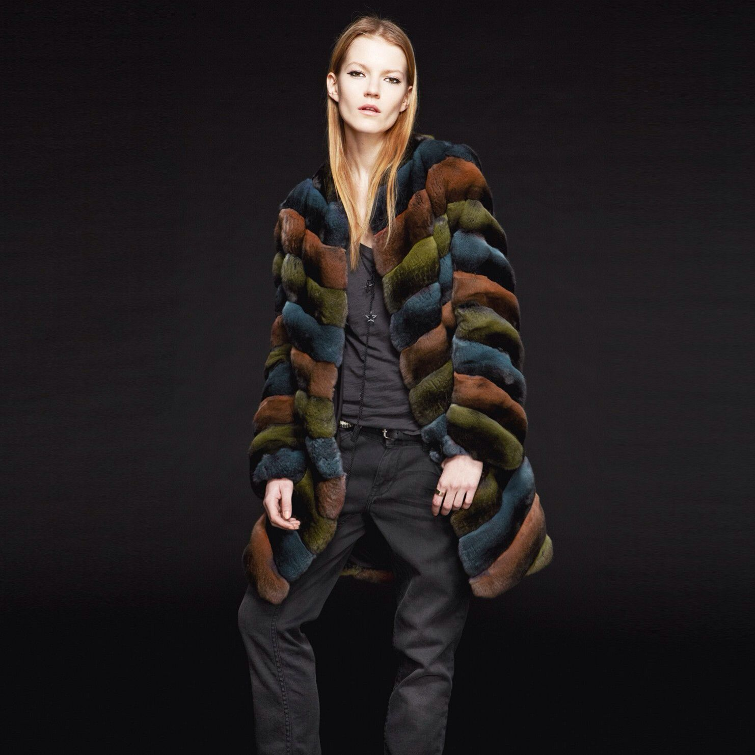 FLAMINGO CHINCHILLA FUR COAT Chinchilla fur, Fur