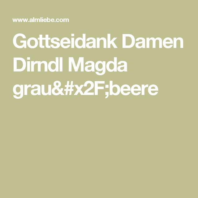 Gottseidank Damen Dirndl Magda grau/beere