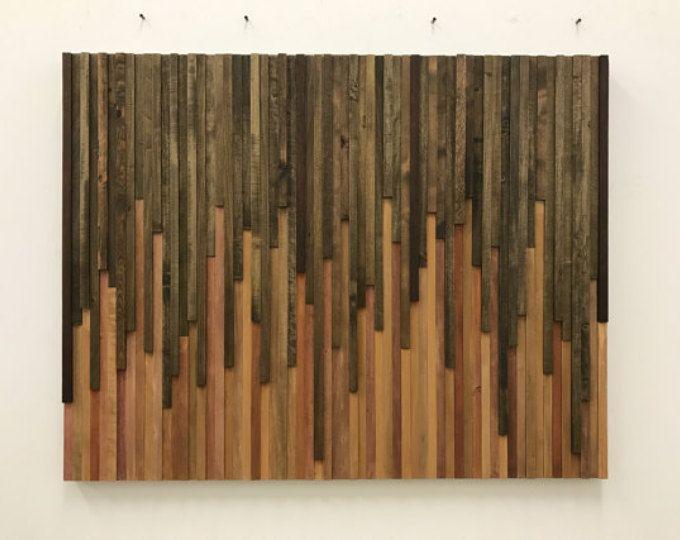 Wall Art Wood Rustic Sculpture Installation 46x36