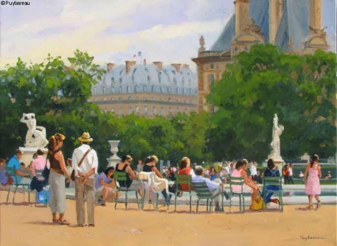 Farniente aux Tuileries \ Annie PUYBAREAU