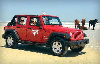 Beach Jeeps Of Corolla