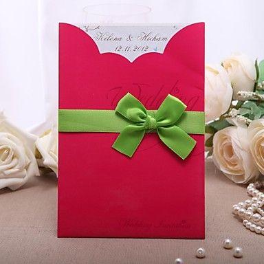 Personalized+Elegant+Wedding+Invitation+With+Ribbons+-+Set+Of+50+–+GBP+£+37.89